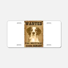 """Wanted"" Brittany Aluminum License Plate"