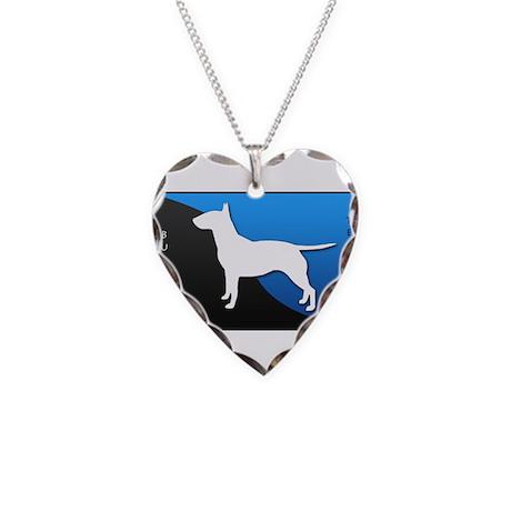 Bull Terrier Necklace Heart Charm