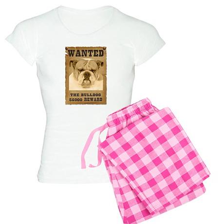 """Wanted"" Bulldog Women's Light Pajamas"