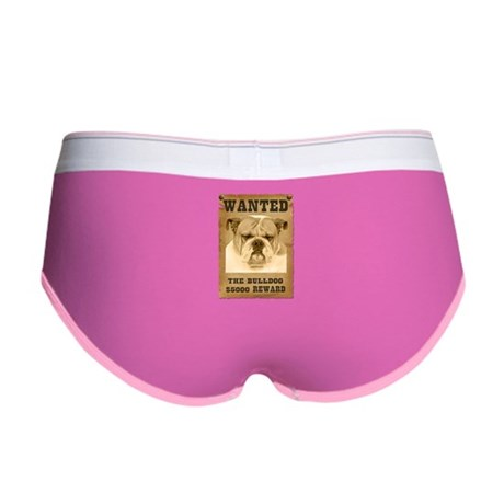 """Wanted"" Bulldog Women's Boy Brief"