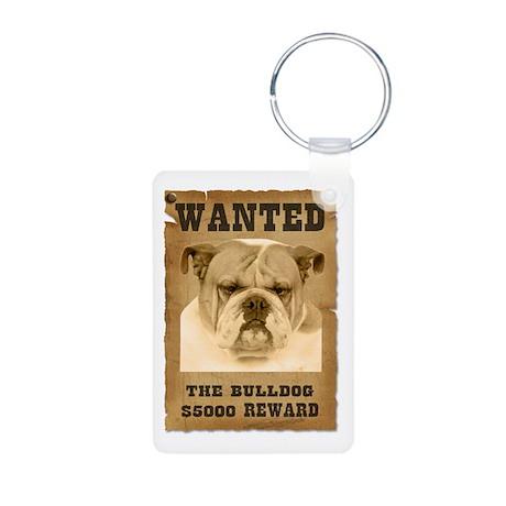 """Wanted"" Bulldog Aluminum Photo Keychain"