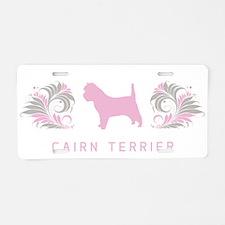 """Elegant"" Cairn Terrier Aluminum License Plate"