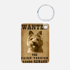 """Wanted"" Cairn Terrier Keychains"
