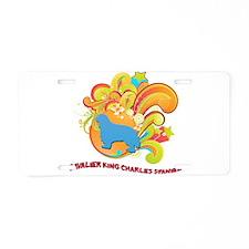 Groovy Cavalier King Charles Aluminum License Plat