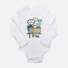 CPA I File Long Sleeve Infant Bodysuit
