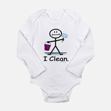 BusyBodies Cleaning Long Sleeve Infant Bodysuit
