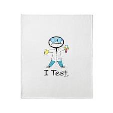Medical Lab Tech Throw Blanket