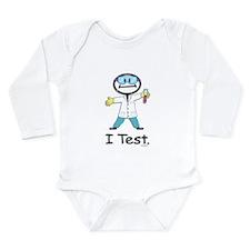Medical Lab Tech Long Sleeve Infant Bodysuit