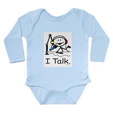 Cute Broadcast Long Sleeve Infant Bodysuit