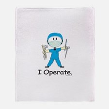 BusyBodies Surgeon Throw Blanket