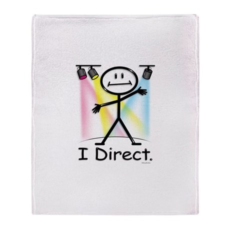 Theater Play Director Throw Blanket