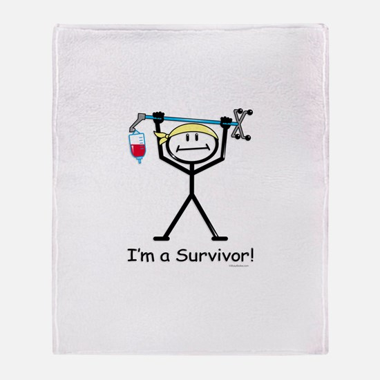 Cancer Survivor Throw Blanket