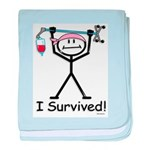 Breast Cancer Survivor baby blanket