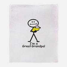 Great Grandpa Baby Girl Throw Blanket