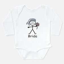 Bride Long Sleeve Infant Bodysuit