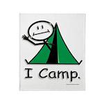 BusyBodies Camping Throw Blanket