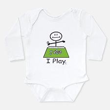Mahjong Stick Figure Long Sleeve Infant Bodysuit