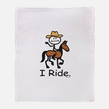 Western horse riding Throw Blanket