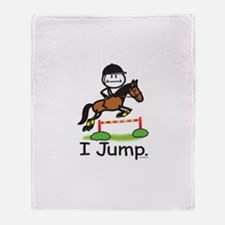 Horse Jumping Throw Blanket