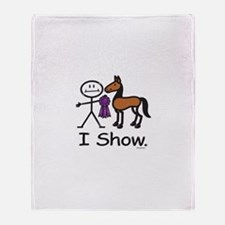 Horse Show Throw Blanket