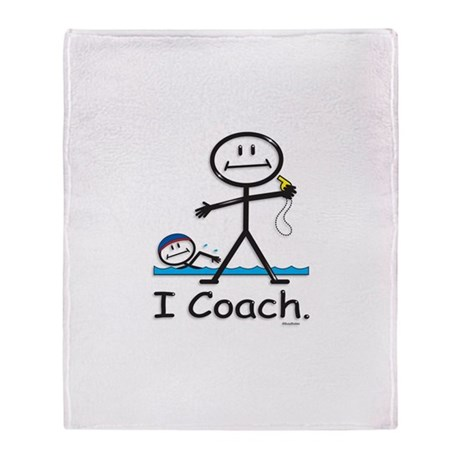 Swimming Coach Throw Blanket