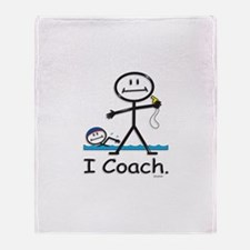 Swimming Coach Throw Blanket