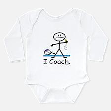 Swimming Coach Long Sleeve Infant Bodysuit