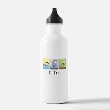 Triathlon Stick Figure Water Bottle