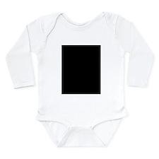 Hug Stick Figure Long Sleeve Infant Bodysuit