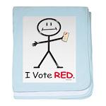 Vote Republican baby blanket