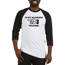 Just Married Valerie Baseball Jersey