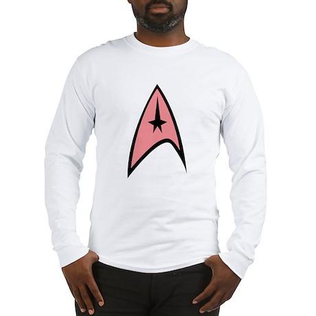 Pink Insignia Long Sleeve T-Shirt