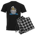 Cat Bath II Men's Dark Pajamas