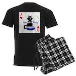 Cats Playing Poker Men's Dark Pajamas