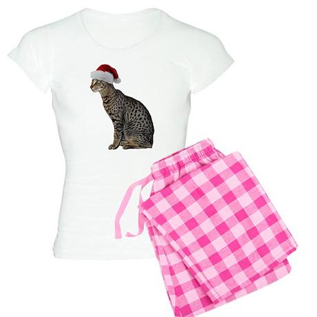 Savannah Cat Christmas Women's Light Pajamas