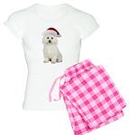 Bichon Frise Santa Women's Light Pajamas