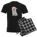 Bichon Frise Santa Men's Dark Pajamas