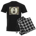 Boston Terriers Men's Dark Pajamas