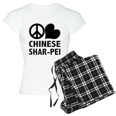 Peace Love Shar-Pei Women's Light Pajamas