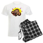 Happy Dachshund Cartoon Men's Light Pajamas