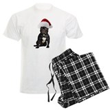 French bulldog christmas Men's Light Pajamas