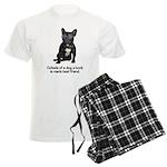 Best Friend French Bulldog Men's Light Pajamas