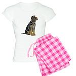 German Shepherd Puppy Women's Light Pajamas
