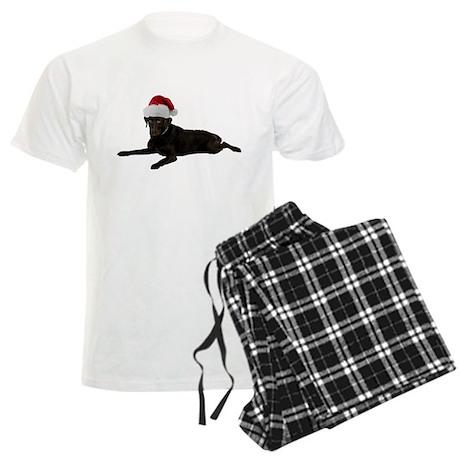 Black Lab Christmas Men's Light Pajamas