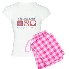 Yellow Lab Pawprints Pajamas