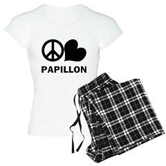 Peace Love Papillon Pajamas