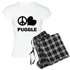 Peace Love Puggle Pajamas