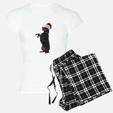 Santa Rottweiler Pajamas
