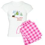 Rottweiler Christmas Women's Light Pajamas