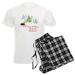 Rottweiler Christmas Men's Light Pajamas